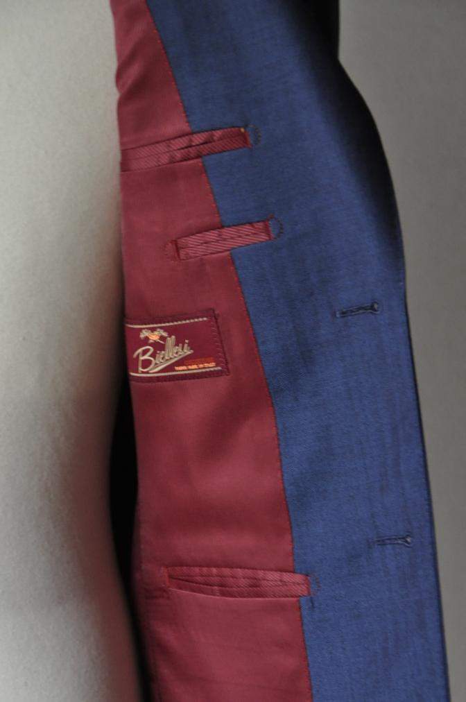 DSC1432 お客様のスーツの紹介- BIELLESI ネイビーヘリンボーン-