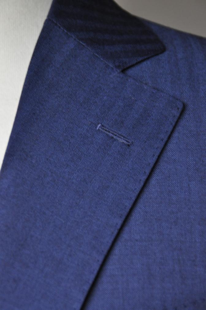 DSC1435 お客様のスーツの紹介- BIELLESI ネイビーヘリンボーン-