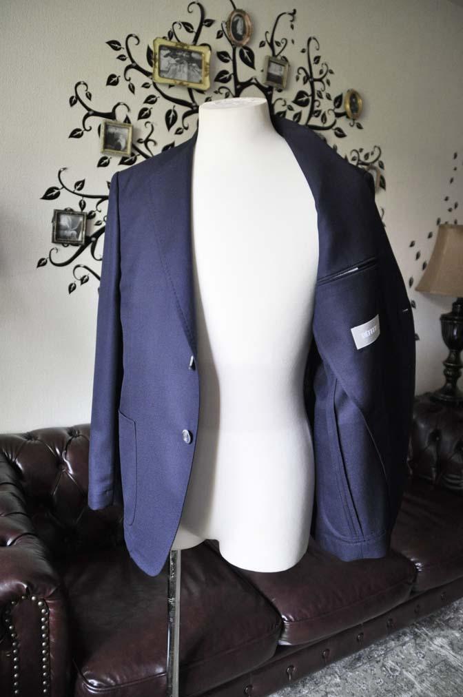 DSC1442-1 お客様のジャケットの紹介-CANONICOネイビーホップサック アンコンジャケット-