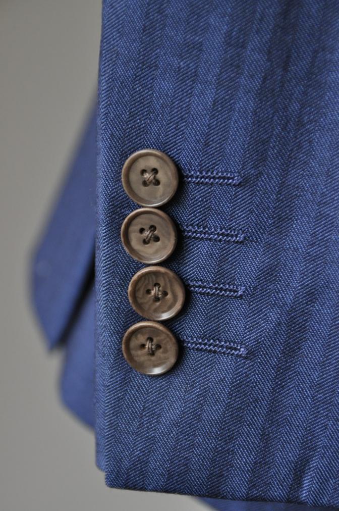 DSC1442 お客様のスーツの紹介- BIELLESI ネイビーヘリンボーン-