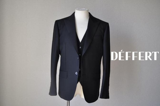 DSC14551 お客様のスーツの紹介-CANONICO ブラックスリーピース-