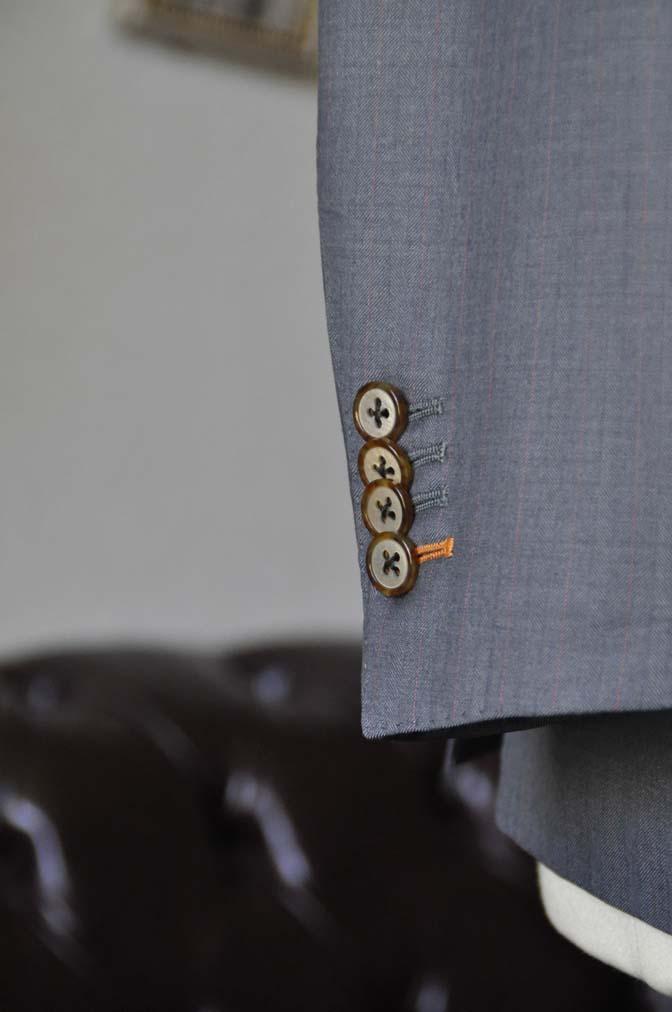 DSC1470-1 お客様のスーツの紹介-SCABAL GOLDEN RIBBONグレーストライプ- 名古屋の完全予約制オーダースーツ専門店DEFFERT