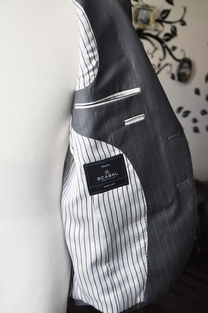 DSC1472-1 お客様のスーツの紹介-SCABAL GOLDEN RIBBONグレーストライプ- 名古屋の完全予約制オーダースーツ専門店DEFFERT