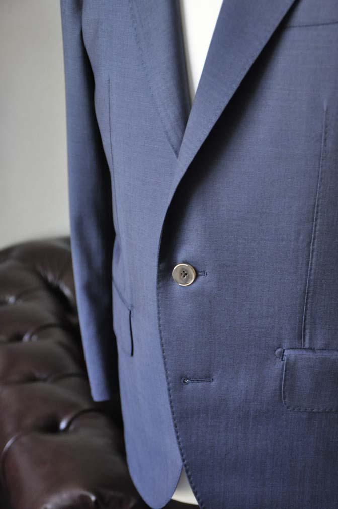 DSC1483-1 お客様のスーツの紹介-DORMEUIL EXEL 無地ネイビースーツ-