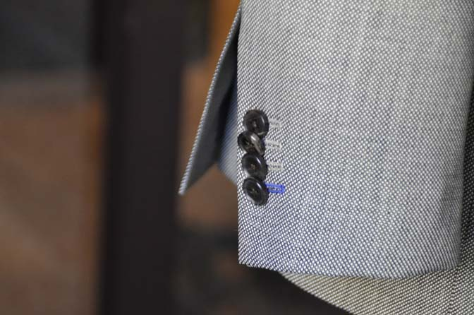 DSC1485-2 オーダースーツの紹介-グレーバーズアイスーツ- 名古屋の完全予約制オーダースーツ専門店DEFFERT