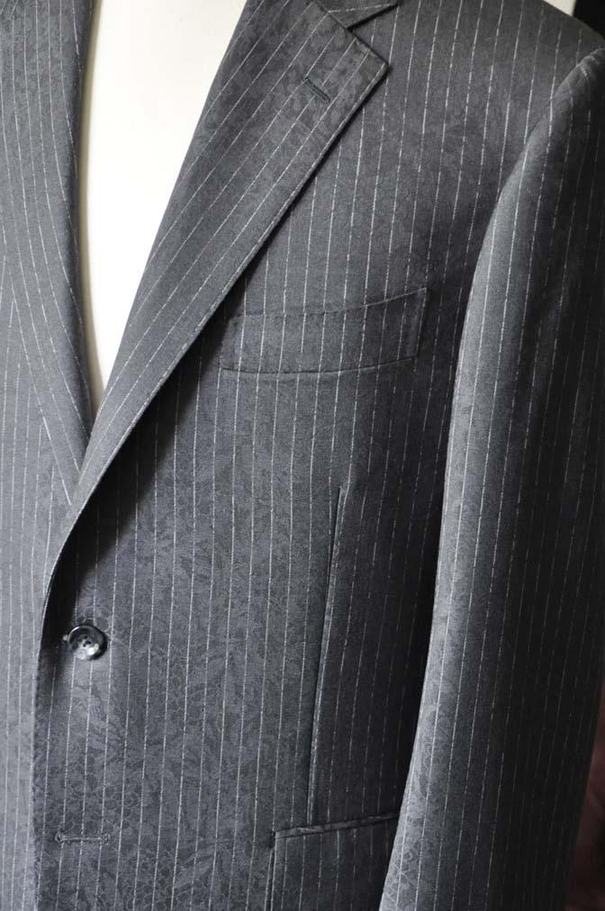 DSC1514-1 お客様のスーツの紹介-Collezioni Biellesiグレーストライプスーツ-