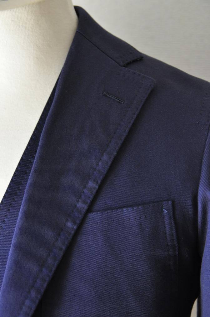 DSC1532 スーツの紹介-ネイビーストレッチコットン スリーピース-