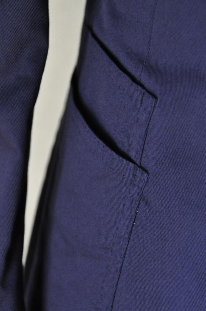 DSC1538 スーツの紹介-ネイビーストレッチコットン スリーピース-