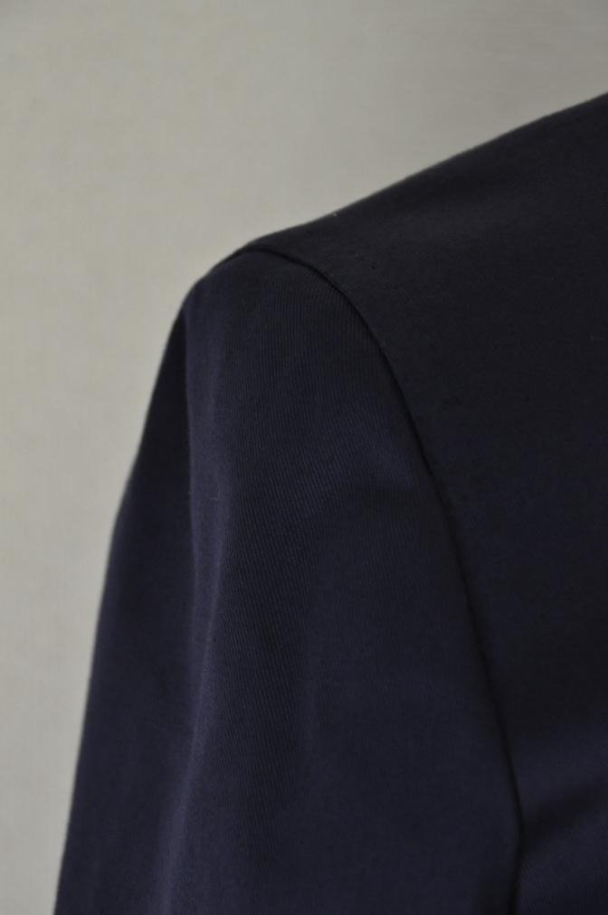 DSC1544 スーツの紹介-ネイビーストレッチコットン スリーピース-