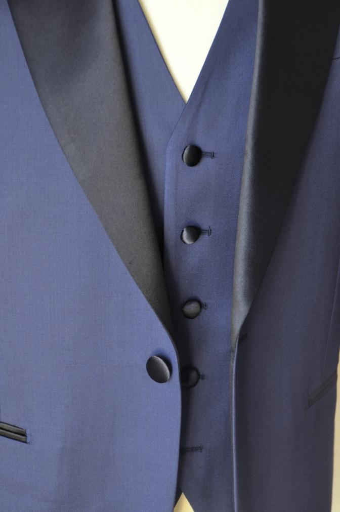 DSC15582 お客様のウエディング衣装の紹介-ネイビータキシード- 名古屋の完全予約制オーダースーツ専門店DEFFERT