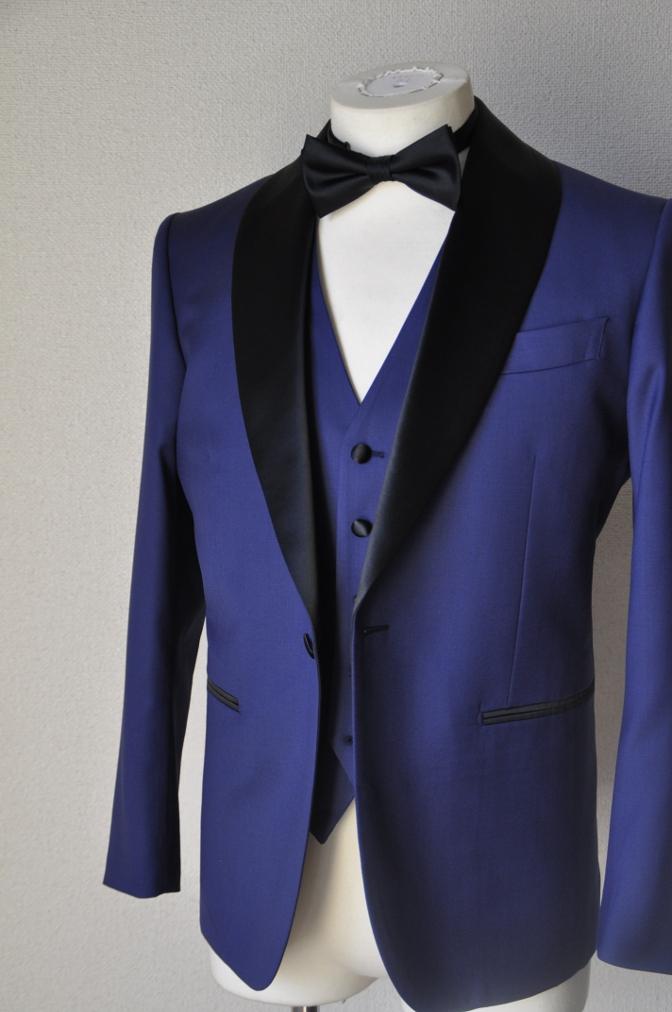 DSC1569 お客様のウエディング衣装の紹介-ネイビータキシード- 名古屋の完全予約制オーダースーツ専門店DEFFERT