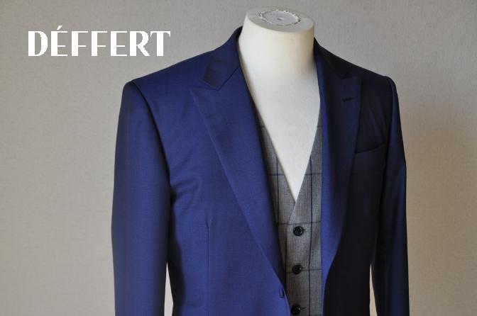 DSC15701 お客様のウエディング衣装の紹介-ネイビースーツ グレーチェックベスト-