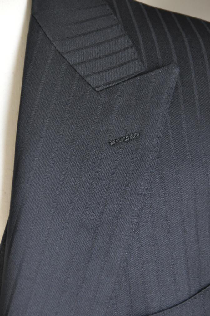 DSC1578 オーダースーツ-BIELLESI ブラックストライプスーツ+チャコ-ルグレーベスト-