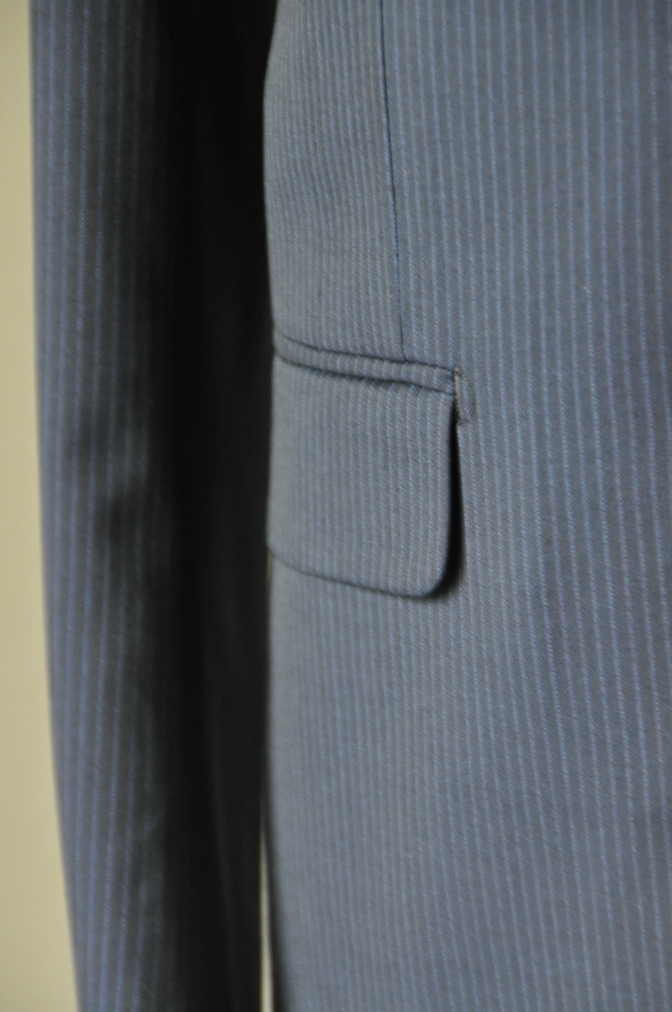 DSC16332 お客様のスーツの紹介-Biellesi ネイビーストライプ-