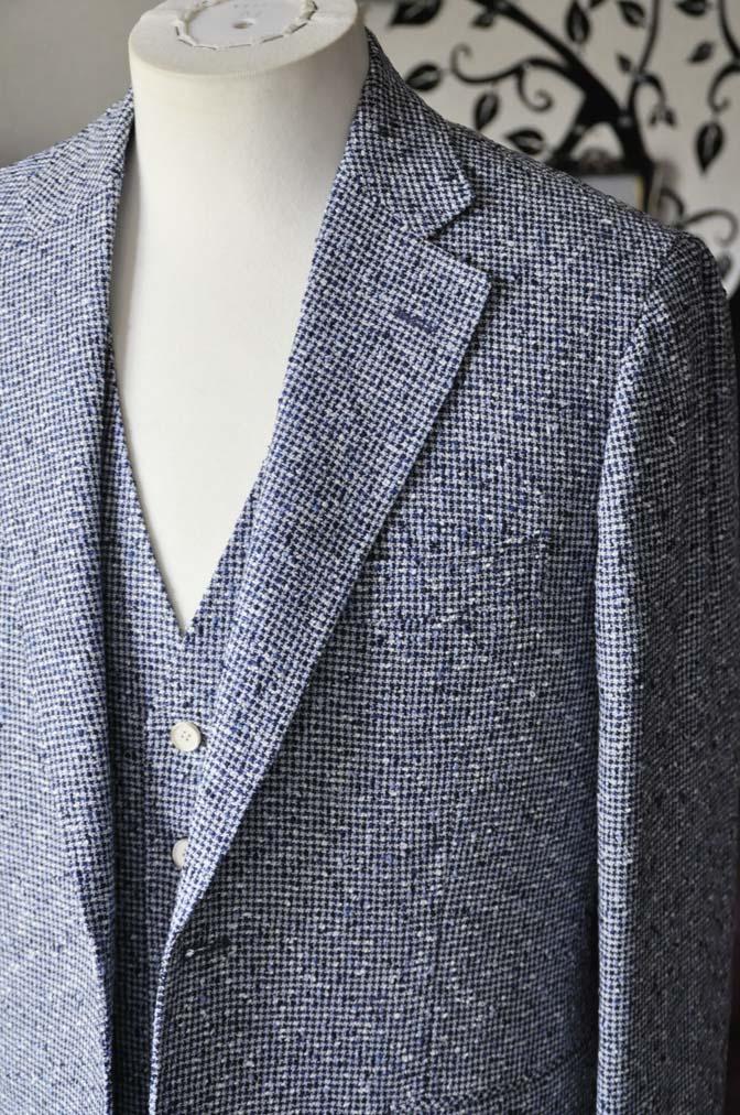 DSC1640-2 お客様のジャケット/ベストの紹介-FERLA ホワイト/ネイビーリネン-