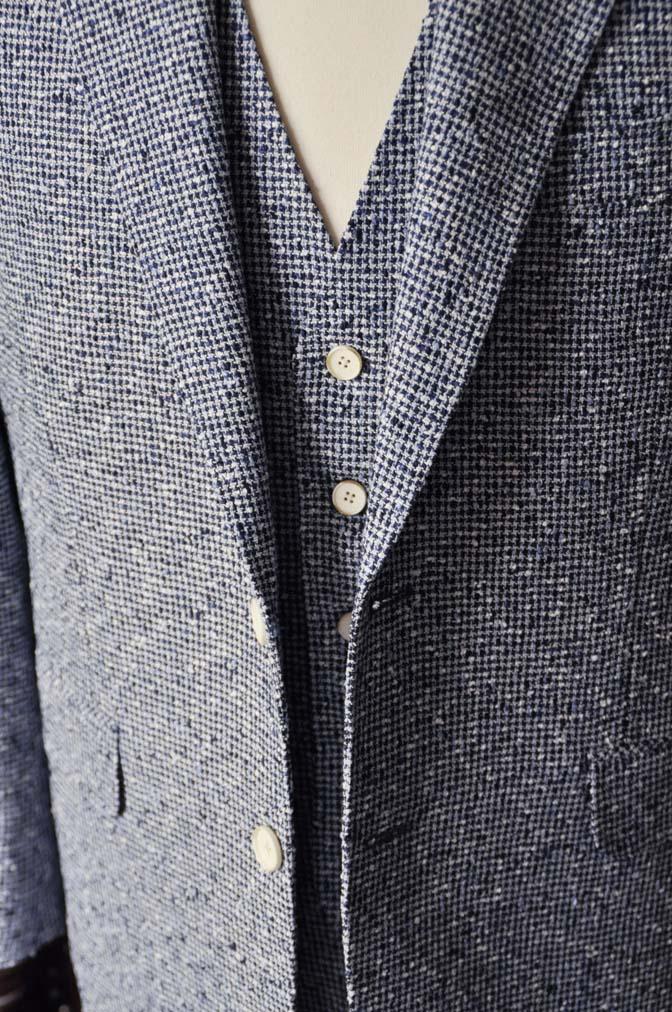 DSC1642-1 お客様のジャケット/ベストの紹介-FERLA ホワイト/ネイビーリネン-