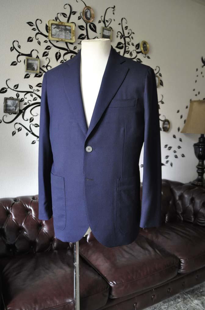DSC1658-2 お客様のジャケットの紹介-Biellesiネイビーホップサック ジャケット- 名古屋の完全予約制オーダースーツ専門店DEFFERT