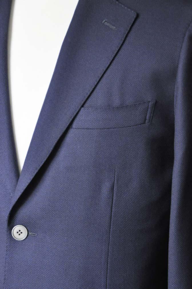 DSC1666-2 お客様のジャケットの紹介-Biellesiネイビーホップサック ジャケット- 名古屋の完全予約制オーダースーツ専門店DEFFERT