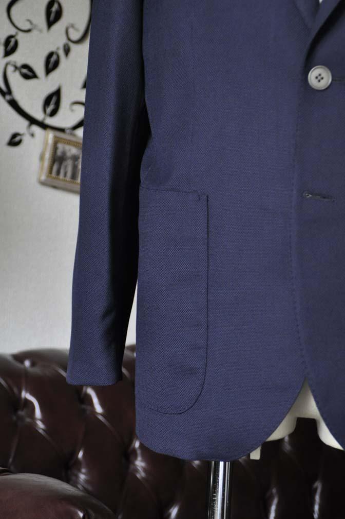 DSC1668 お客様のジャケットの紹介-Biellesiネイビーホップサック ジャケット- 名古屋の完全予約制オーダースーツ専門店DEFFERT