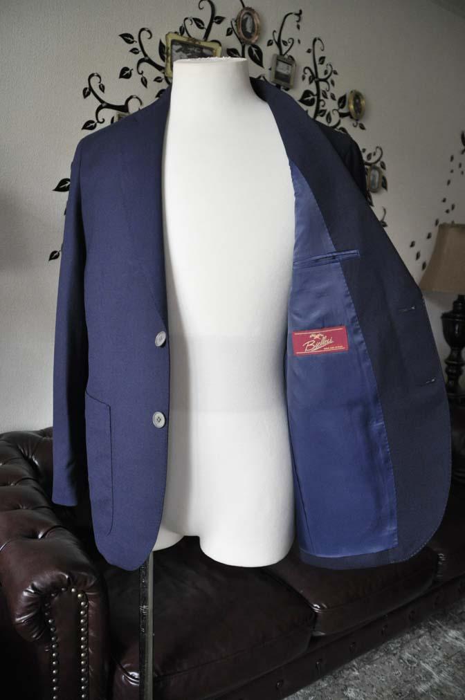 DSC1670-1 お客様のジャケットの紹介-Biellesiネイビーホップサック ジャケット- 名古屋の完全予約制オーダースーツ専門店DEFFERT
