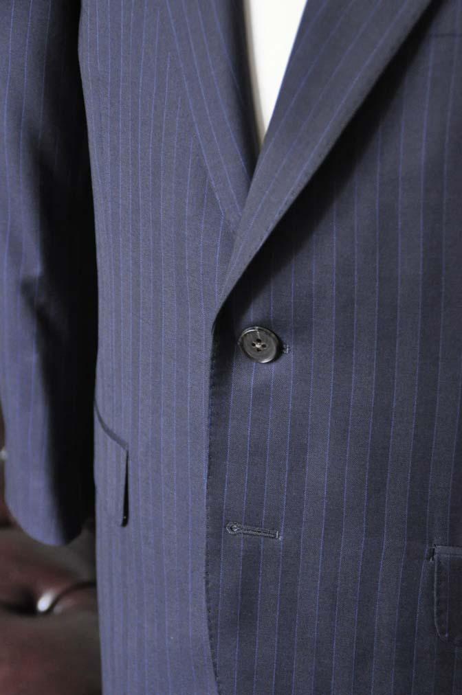 DSC1683-1 お客様のスーツの紹介-CARLO BARBERAネイビーストライプスーツ- 名古屋の完全予約制オーダースーツ専門店DEFFERT