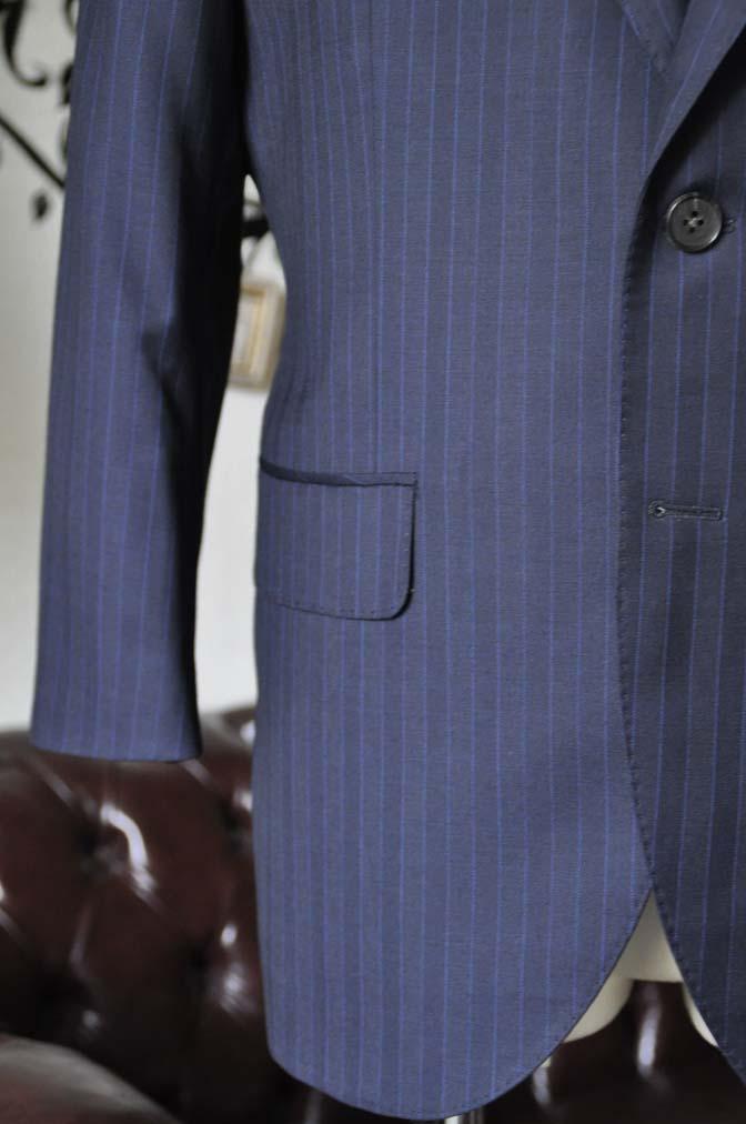 DSC1685 お客様のスーツの紹介-CARLO BARBERAネイビーストライプスーツ- 名古屋の完全予約制オーダースーツ専門店DEFFERT
