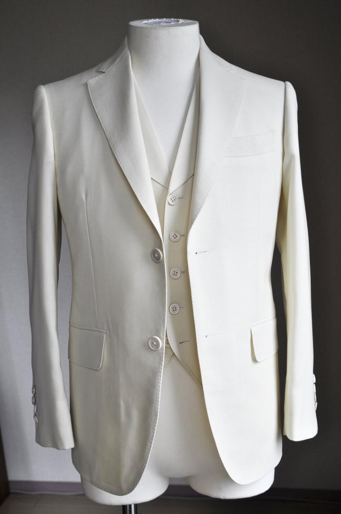 DSC1701 オーダースーツ-ホワイトホップサックスリーピーススーツ-