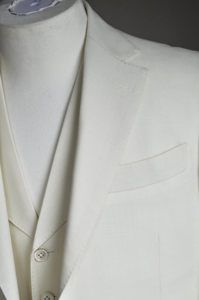 DSC1702 オーダースーツ-ホワイトホップサックスリーピーススーツ-