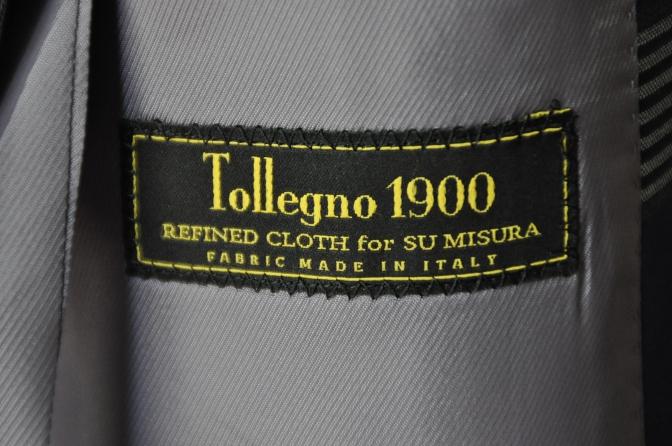 DSC17041 お客様のスーツの紹介- Tollegno ネイビーチェック ダブルスーツ-