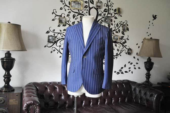 DSC1715-1 お客様のスーツの紹介-DARROW DALEネイビーストライプスーツ- 名古屋の完全予約制オーダースーツ専門店DEFFERT