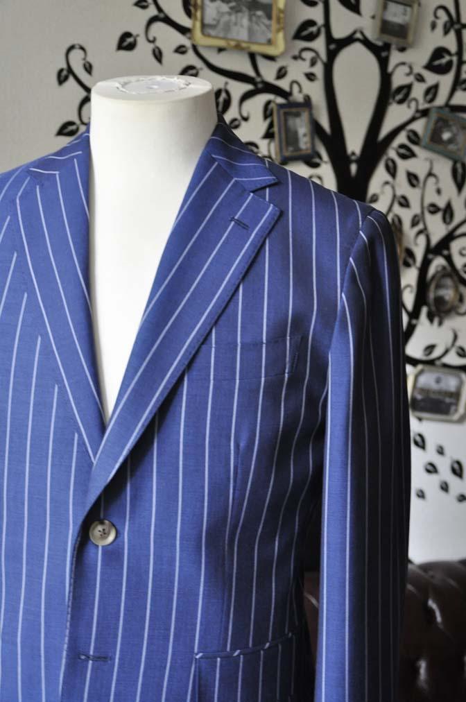 DSC1718-1 お客様のスーツの紹介-DARROW DALEネイビーストライプスーツ- 名古屋の完全予約制オーダースーツ専門店DEFFERT