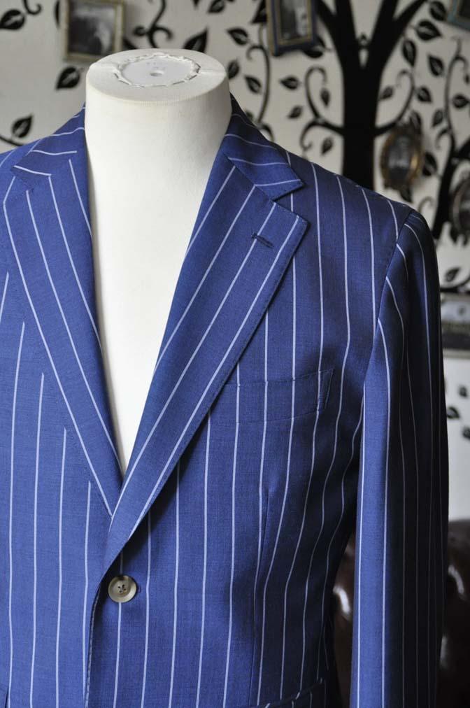 DSC1719-1 お客様のスーツの紹介-DARROW DALEネイビーストライプスーツ- 名古屋の完全予約制オーダースーツ専門店DEFFERT