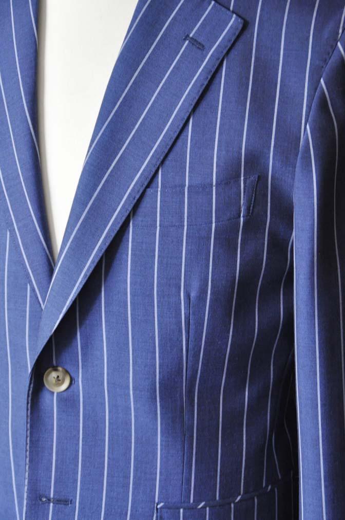 DSC1720-1 お客様のスーツの紹介-DARROW DALEネイビーストライプスーツ- 名古屋の完全予約制オーダースーツ専門店DEFFERT
