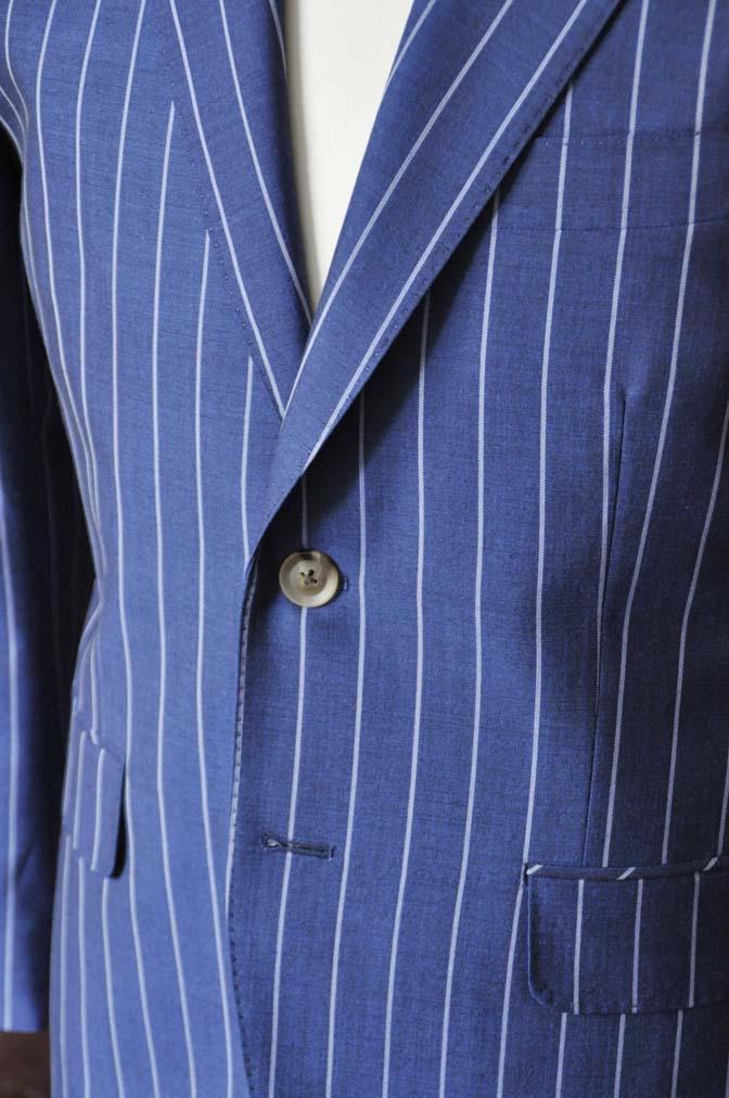 DSC1721-2 お客様のスーツの紹介-DARROW DALEネイビーストライプスーツ- 名古屋の完全予約制オーダースーツ専門店DEFFERT