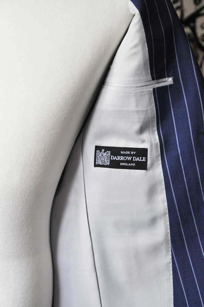 DSC1725-1 お客様のスーツの紹介-DARROW DALEネイビーストライプスーツ- 名古屋の完全予約制オーダースーツ専門店DEFFERT