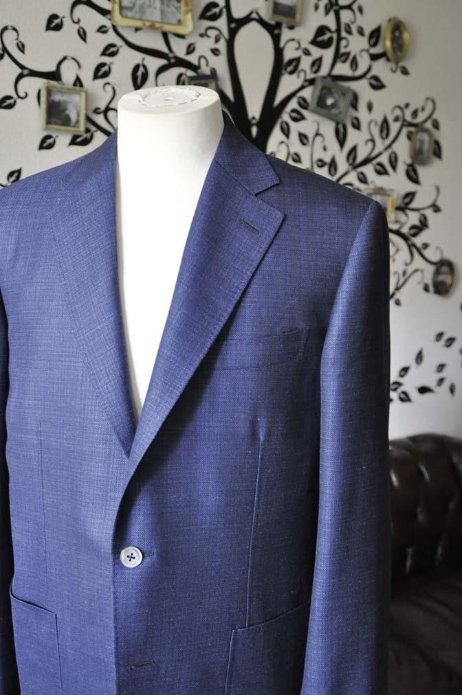 DSC1732 お客様のジャケットの紹介-Tallia Di Delfinoネイビーリネンジャケット- 名古屋の完全予約制オーダースーツ専門店DEFFERT