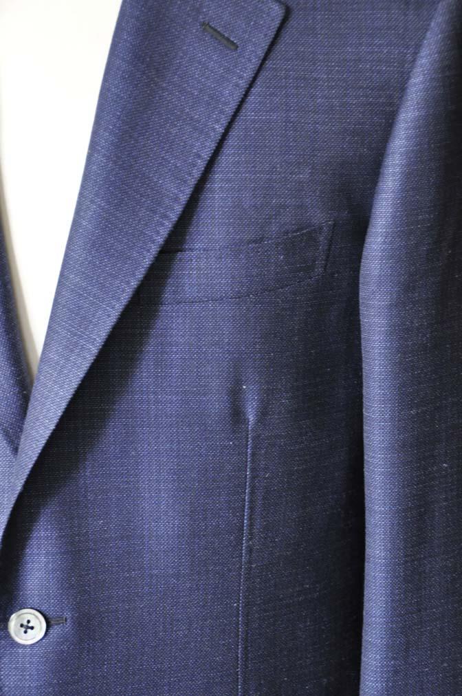 DSC1735-1 お客様のジャケットの紹介-Tallia Di Delfinoネイビーリネンジャケット- 名古屋の完全予約制オーダースーツ専門店DEFFERT