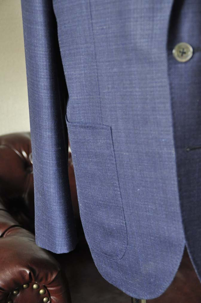 DSC1737-1 お客様のジャケットの紹介-Tallia Di Delfinoネイビーリネンジャケット- 名古屋の完全予約制オーダースーツ専門店DEFFERT