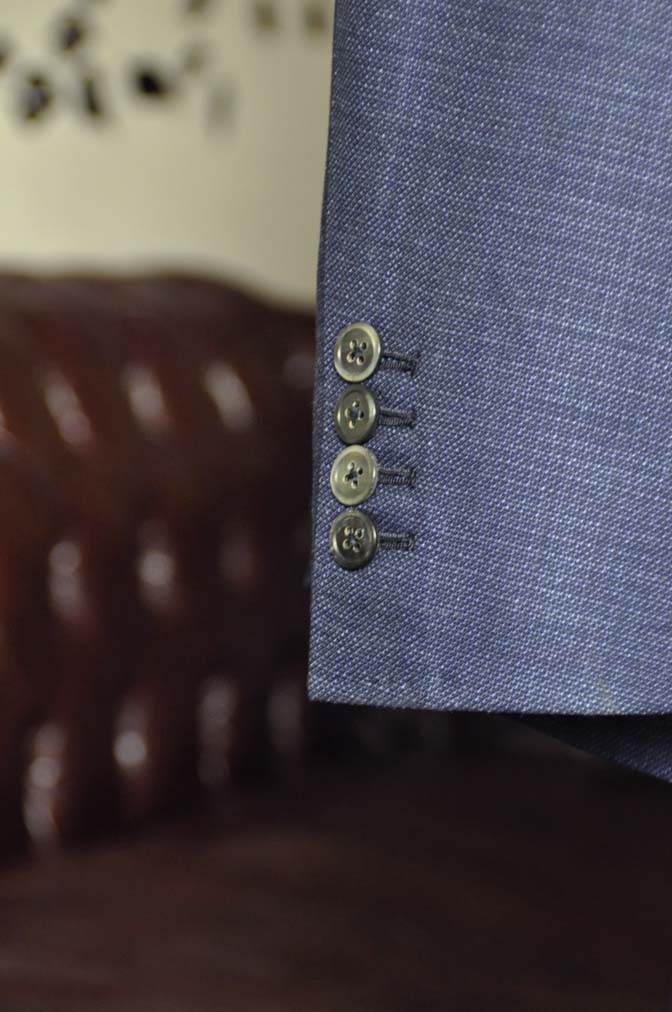 DSC1738-1 お客様のジャケットの紹介-Tallia Di Delfinoネイビーリネンジャケット- 名古屋の完全予約制オーダースーツ専門店DEFFERT