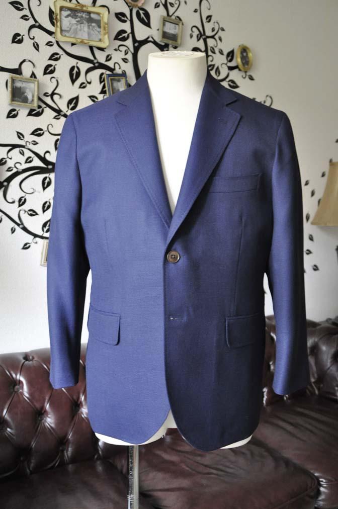 DSC1747-1 お客様のジャケットの紹介-CANONICOネイビーホップサックジャケット-