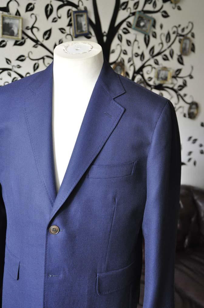 DSC1750-1 お客様のジャケットの紹介-CANONICOネイビーホップサックジャケット-