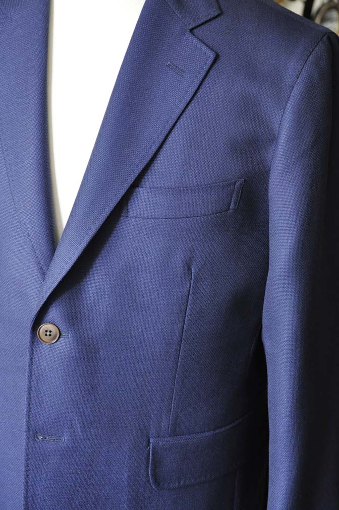 DSC1752-1 お客様のジャケットの紹介-CANONICOネイビーホップサックジャケット-