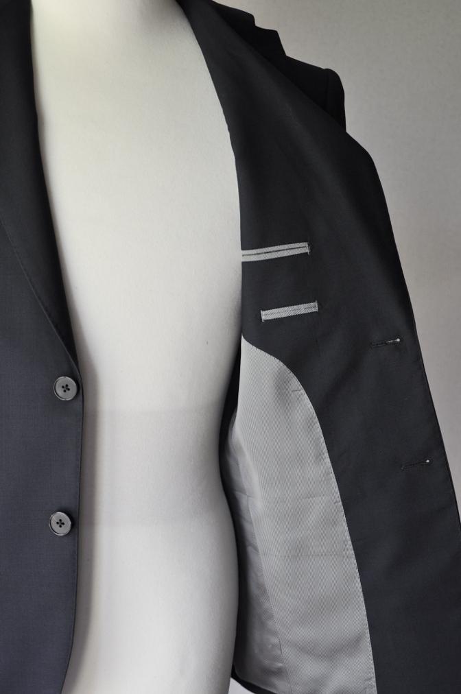 DSC17541 お客様のスーツの紹介-無地ネイビースーツ- 名古屋の完全予約制オーダースーツ専門店DEFFERT