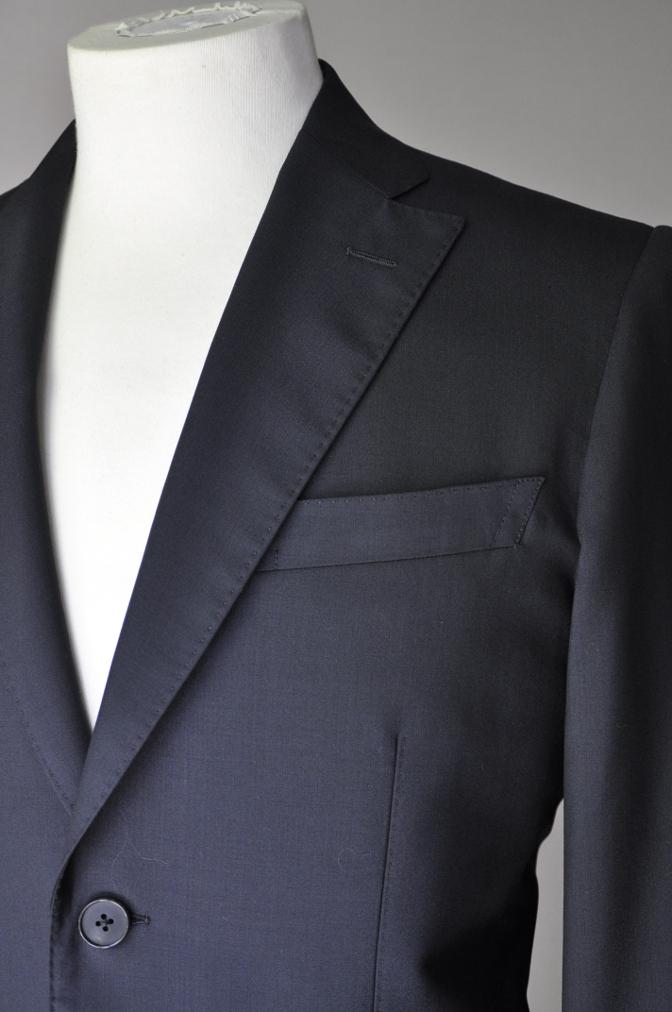 DSC17551 お客様のスーツの紹介-無地ネイビースーツ- 名古屋の完全予約制オーダースーツ専門店DEFFERT