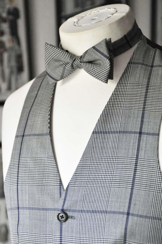 DSC17562 お客様のウエディング衣装の紹介- ネイビーウィンドペンスーツ、グレーベスト-