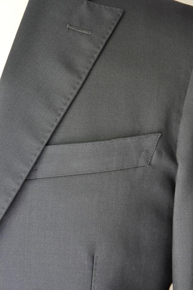 DSC1757 お客様のスーツの紹介-無地ネイビースーツ- 名古屋の完全予約制オーダースーツ専門店DEFFERT