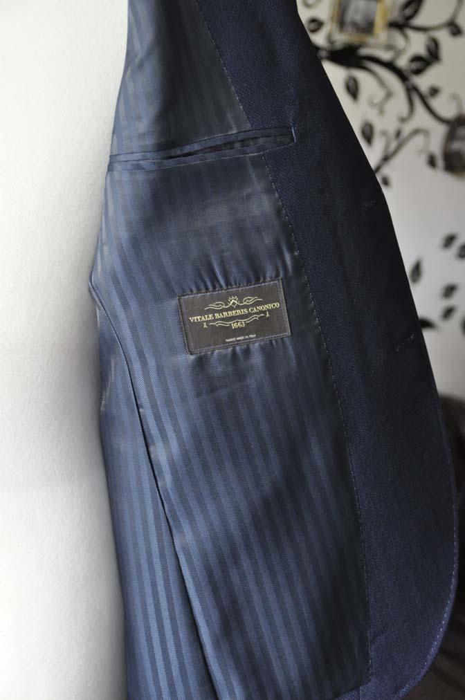 DSC1758-1 お客様のジャケットの紹介-CANONICOネイビーホップサックジャケット-