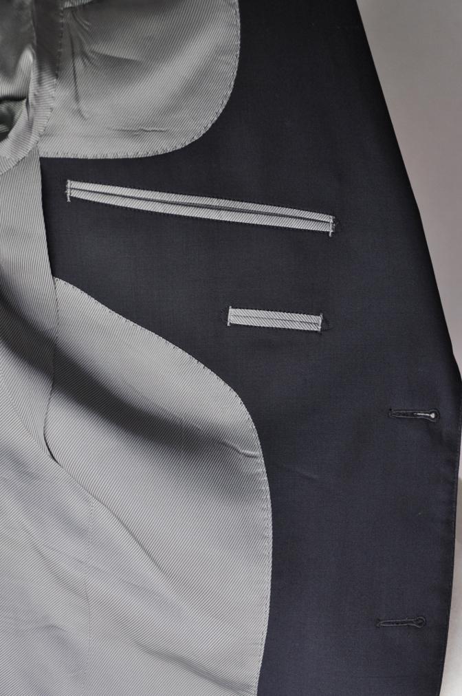 DSC1763 お客様のスーツの紹介-無地ネイビースーツ- 名古屋の完全予約制オーダースーツ専門店DEFFERT