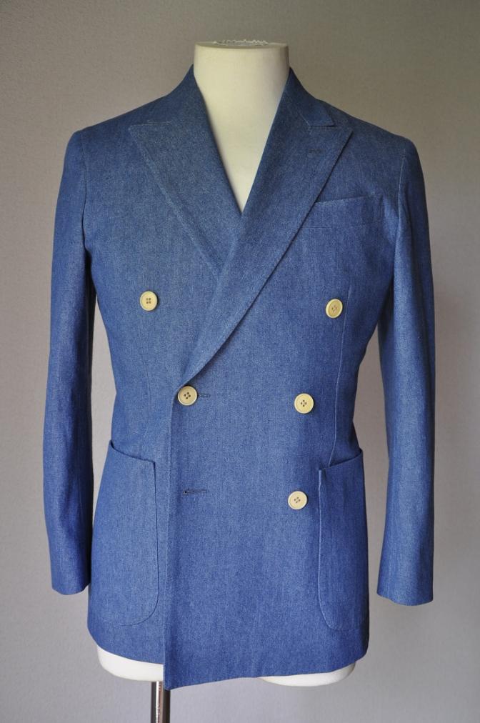 DSC17902 お客様のジャケットの紹介- デニム ダブルジャケット-