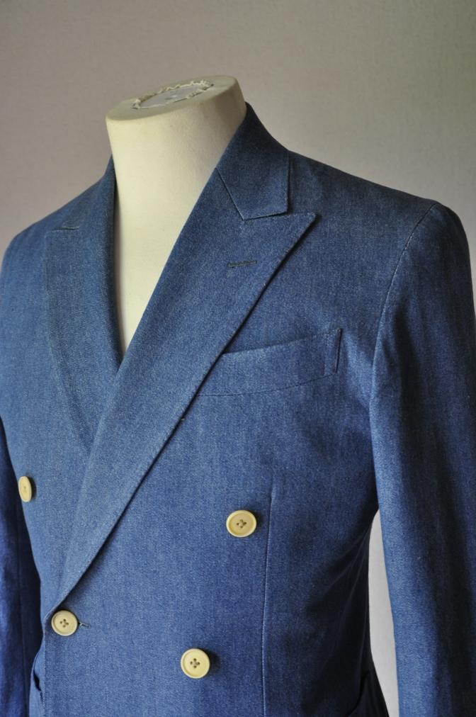 DSC1791 お客様のジャケットの紹介- デニム ダブルジャケット-
